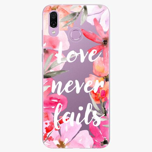 Silikonové pouzdro iSaprio - Love Never Fails na mobil Honor Play