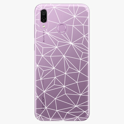 Silikonové pouzdro iSaprio - Abstract Triangles 03 white na mobil Honor Play
