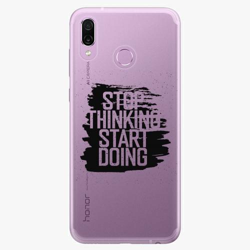 Silikonové pouzdro iSaprio - Start Doing black na mobil Honor Play