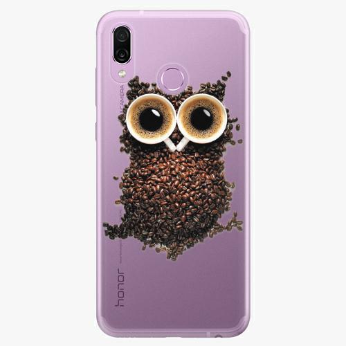 Silikonové pouzdro iSaprio - Owl And Coffee na mobil Honor Play