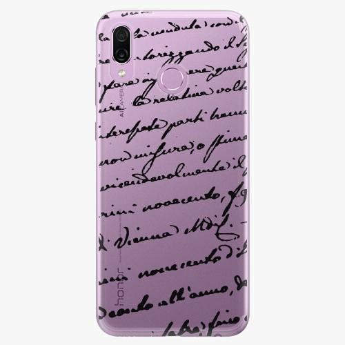 Silikonové pouzdro iSaprio - Handwriting 01 black na mobil Honor Play