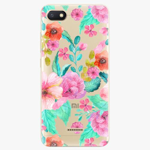 Silikonové pouzdro iSaprio - Flower Pattern 01 na mobil Xiaomi Redmi 6A