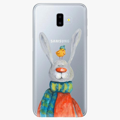 Silikonové pouzdro iSaprio - Rabbit And Bird na mobil Samsung Galaxy J6 Plus