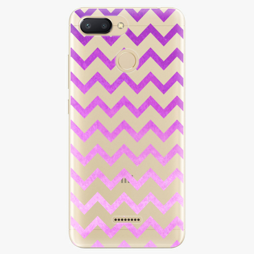 Silikonové pouzdro iSaprio - Zigzag purple na mobil Xiaomi Redmi 6