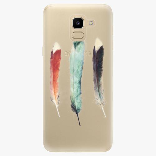 Silikonové pouzdro iSaprio - Three Feathers na mobil Samsung Galaxy J6