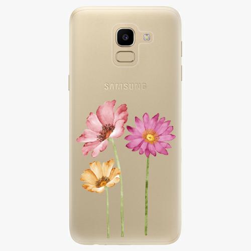 Silikonové pouzdro iSaprio - Three Flowers na mobil Samsung Galaxy J6