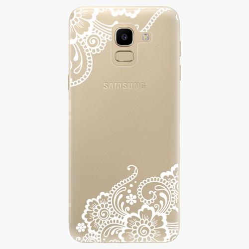 Silikonové pouzdro iSaprio - White Lace 02 na mobil Samsung Galaxy J6