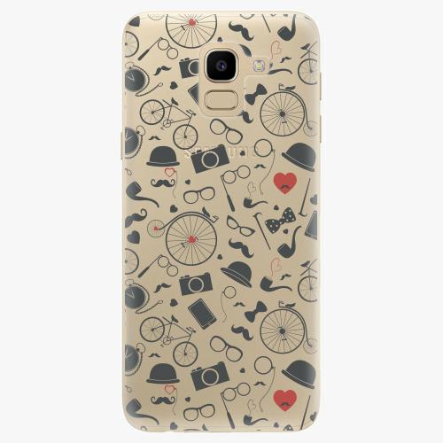 Silikonové pouzdro iSaprio - Vintage Pattern 01 black na mobil Samsung Galaxy J6