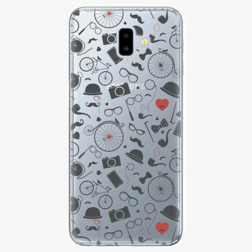 Silikonové pouzdro iSaprio - Vintage Pattern 01 black na mobil Samsung Galaxy J6 Plus