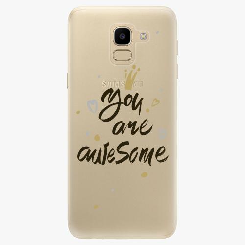 Silikonové pouzdro iSaprio - You Are Awesome black na mobil Samsung Galaxy J6