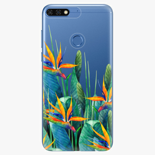 Silikonové pouzdro iSaprio - Exotic Flowers na mobil Honor 7C