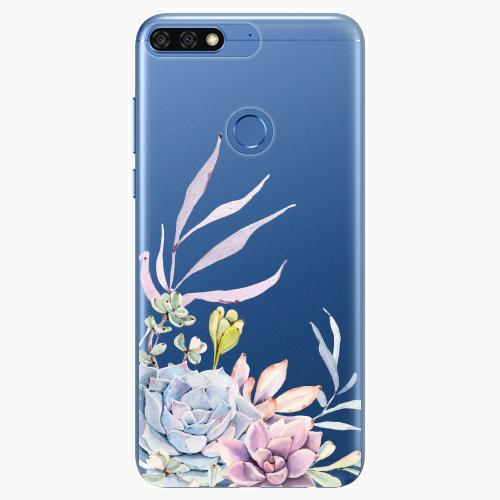 Silikonové pouzdro iSaprio - Succulent 01 na mobil Honor 7C