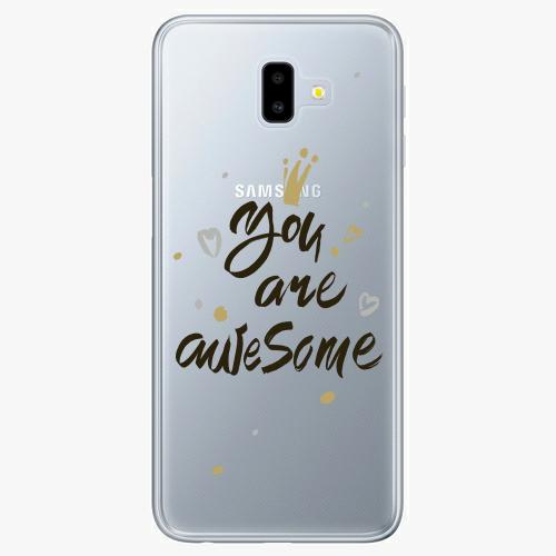 Silikonové pouzdro iSaprio - You Are Awesome black na mobil Samsung Galaxy J6 Plus