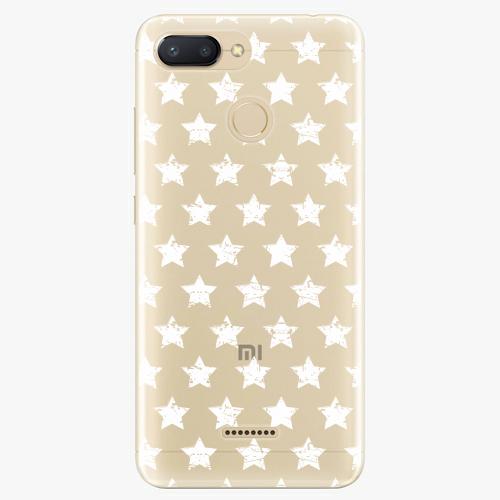 Silikonové pouzdro iSaprio - Stars Pattern white na mobil Xiaomi Redmi 6