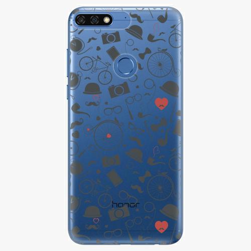 Silikonové pouzdro iSaprio - Vintage Pattern 01 black na mobil Honor 7C