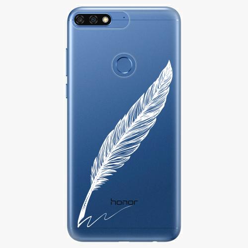 Silikonové pouzdro iSaprio - Writing By Feather white na mobil Honor 7C