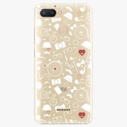 Silikonové pouzdro iSaprio - Vintage Pattern 01 white na mobil Xiaomi Redmi 6