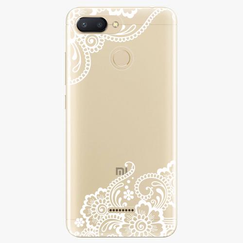 Silikonové pouzdro iSaprio - White Lace 02 na mobil Xiaomi Redmi 6