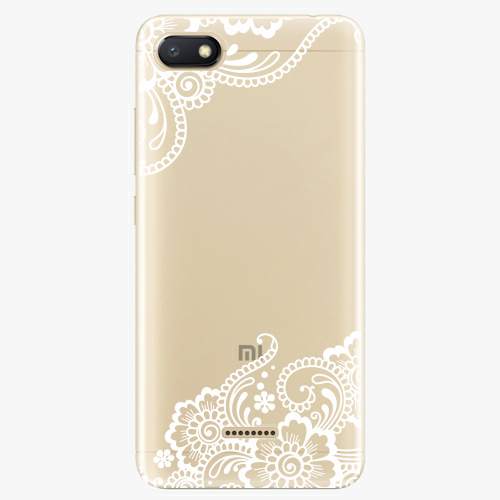 Silikonové pouzdro iSaprio - White Lace 02 na mobil Xiaomi Redmi 6A