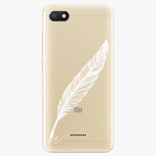Silikonové pouzdro iSaprio - Writing By Feather white na mobil Xiaomi Redmi 6A