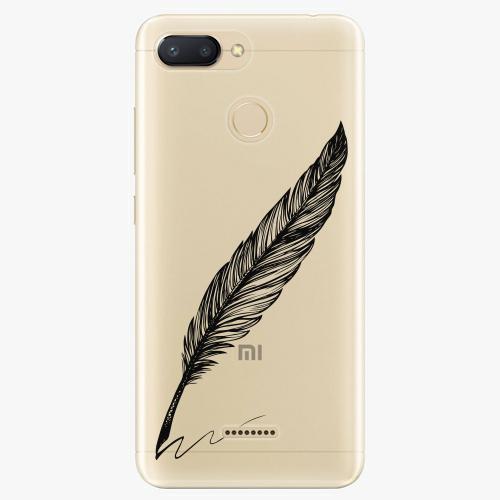 Silikonové pouzdro iSaprio - Writing By Feather black na mobil Xiaomi Redmi 6