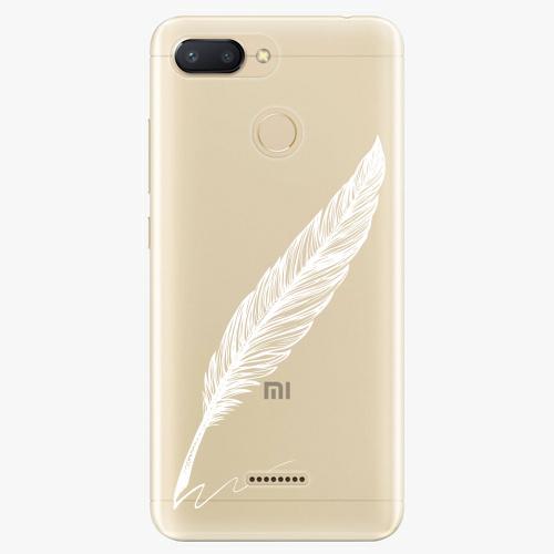Silikonové pouzdro iSaprio - Writing By Feather white na mobil Xiaomi Redmi 6