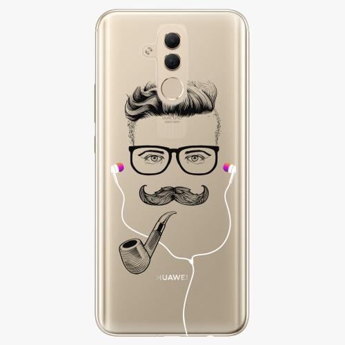 Silikonové pouzdro iSaprio - Man With Headphones 01 na mobil Huawei Mate 20 Lite