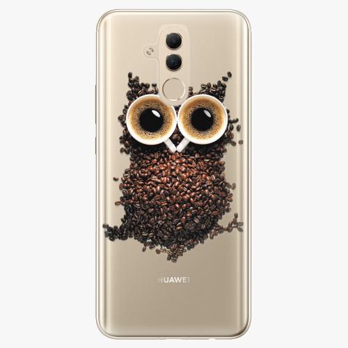 Silikonové pouzdro iSaprio - Owl And Coffee na mobil Huawei Mate 20 Lite