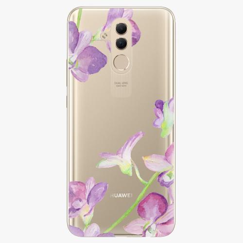 Silikonové pouzdro iSaprio - Purple Orchid na mobil Huawei Mate 20 Lite