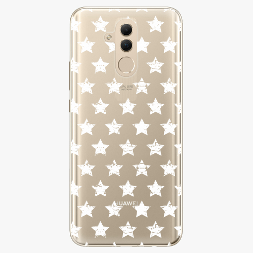 Silikonové pouzdro iSaprio - Stars Pattern white na mobil Huawei Mate 20 Lite