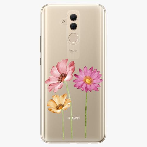 Silikonové pouzdro iSaprio - Three Flowers na mobil Huawei Mate 20 Lite