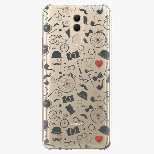 Silikonové pouzdro iSaprio - Vintage Pattern 01 black na mobil Huawei Mate 20 Lite