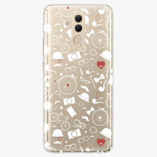 Silikonové pouzdro iSaprio - Vintage Pattern 01 white na mobil Huawei Mate 20 Lite