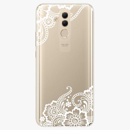 Silikonové pouzdro iSaprio - White Lace 02 na mobil Huawei Mate 20 Lite