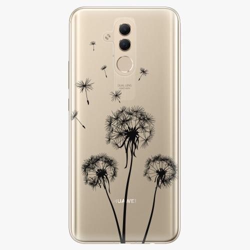 Silikonové pouzdro iSaprio - Three Dandelions black na mobil Huawei Mate 20 Lite
