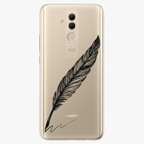 Silikonové pouzdro iSaprio - Writing By Feather black na mobil Huawei Mate 20 Lite