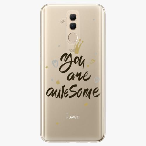 Silikonové pouzdro iSaprio - You Are Awesome black na mobil Huawei Mate 20 Lite