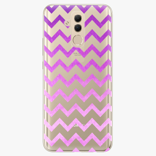 Silikonové pouzdro iSaprio - Zigzag purple na mobil Huawei Mate 20 Lite