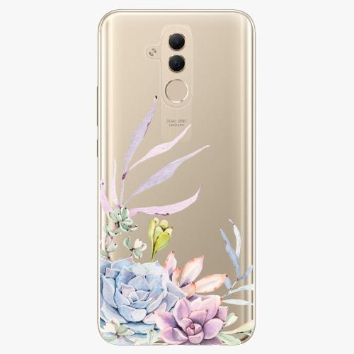 Silikonové pouzdro iSaprio - Succulent 01 na mobil Huawei Mate 20 Lite