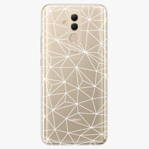 Silikonové pouzdro iSaprio - Abstract Triangles 03 white na mobil Huawei Mate 20 Lite