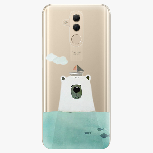Silikonové pouzdro iSaprio - Bear With Boat na mobil Huawei Mate 20 Lite