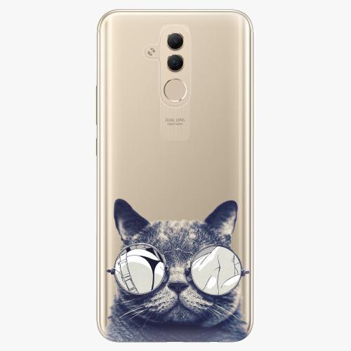 Silikonové pouzdro iSaprio - Crazy Cat 01 na mobil Huawei Mate 20 Lite