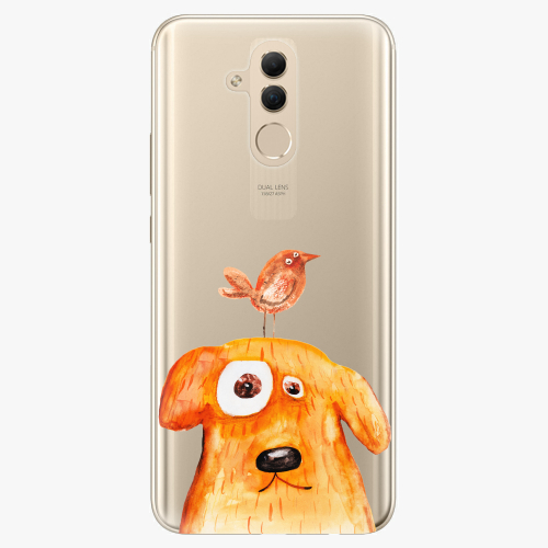 Silikonové pouzdro iSaprio - Dog And Bird na mobil Huawei Mate 20 Lite
