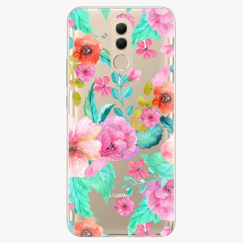 Silikonové pouzdro iSaprio - Flower Pattern 01 na mobil Huawei Mate 20 Lite