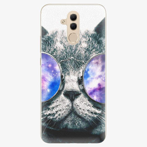 Silikonové pouzdro iSaprio - Galaxy Cat na mobil Huawei Mate 20 Lite
