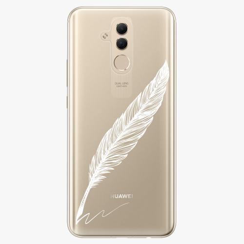 Silikonové pouzdro iSaprio - Writing By Feather white na mobil Huawei Mate 20 Lite
