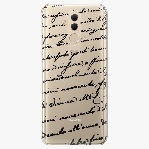Silikonové pouzdro iSaprio - Handwriting 01 black na mobil Huawei Mate 20 Lite
