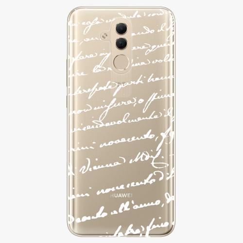 Silikonové pouzdro iSaprio - Handwriting 01 white na mobil Huawei Mate 20 Lite