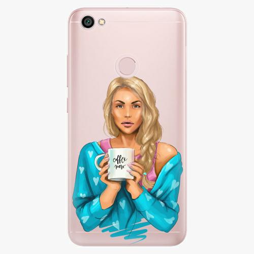 Silikonové pouzdro iSaprio - Coffe Now / Blond na mobil Xiaomi Redmi Note 5A / 5A Prime