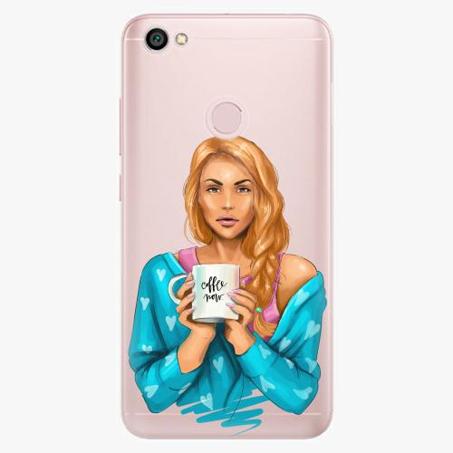 Silikonové pouzdro iSaprio - Coffe Now / Redhead na mobil Xiaomi Redmi Note 5A / 5A Prime